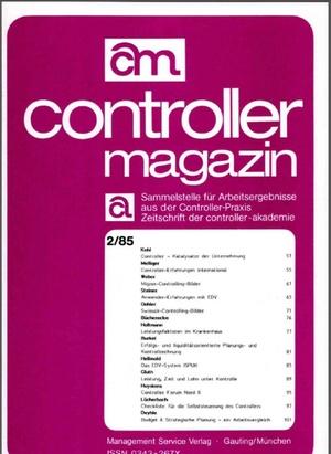 Controller Magazin Ausgabe 02/1985 | Controller Magazin