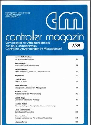 Controller Magazin Ausgabe 2/1989 | Controller Magazin