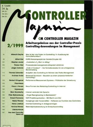 Controller Magazin Ausgabe 2/1999 | Controller Magazin
