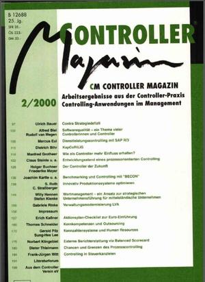 Controller Magazin Ausgabe2/2000 | Controller Magazin