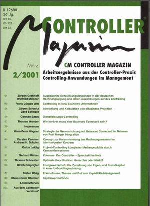 Controller Magazin Ausgabe2/2001 | Controller Magazin