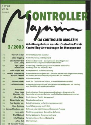 Controller Magazin Ausgabe 2/2003 | Controller Magazin