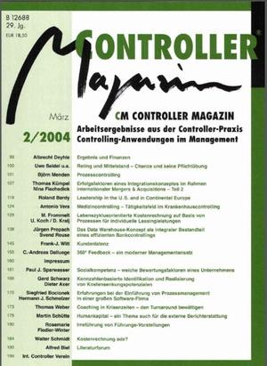 Controller Magazin Ausgabe 2/2004 | Controller Magazin