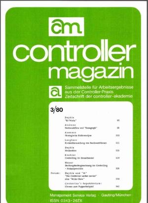 Controller Magazin Ausgabe 3/1980 | Controller Magazin