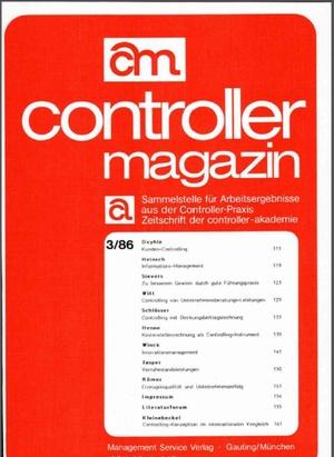 Controller Magazin Ausgabe 3/1986 | Controller Magazin