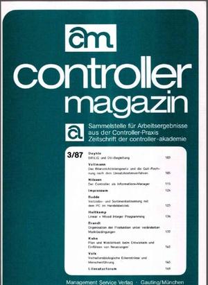 Controller Magazin Ausgabe 4/1987   Controller Magazin