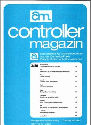 Controller Magazin Ausgabe 3/1988   Controller Magazin