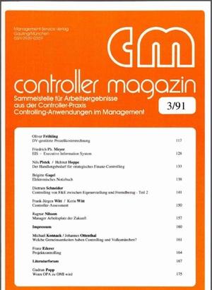 DV-gestützte Prozeßkostenrechnung | Controller Magazin