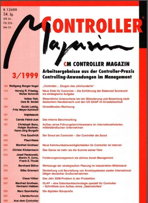 Controller Magazin Ausgabe 3/1999 | Controller Magazin