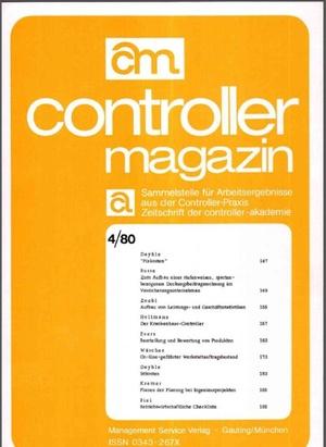 Controller Magazin Ausgabe 4/1980 | Controller Magazin