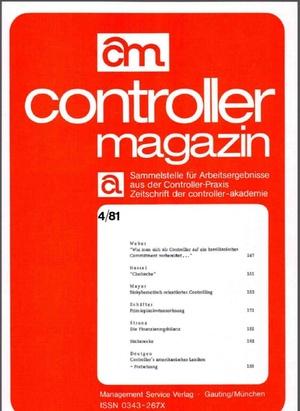 Controller Magazin Ausgabe 4/1981 | Controller Magazin