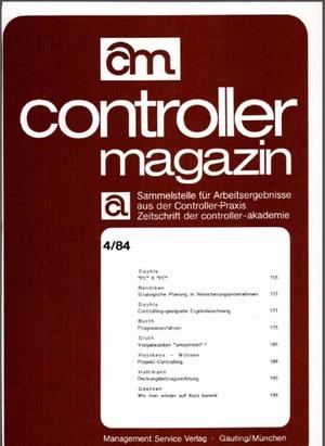 Controller Magazin Ausgabe 04/1984 | Controller Magazin