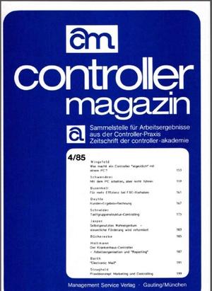 Controller Magazin Ausgabe 04/1985 | Controller Magazin