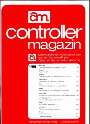 Controller Magazin Ausgabe 4/1986 | Controller Magazin