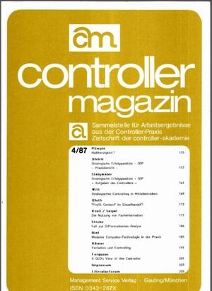 Controller Magazin Ausgabe 4/1987 | Controller Magazin
