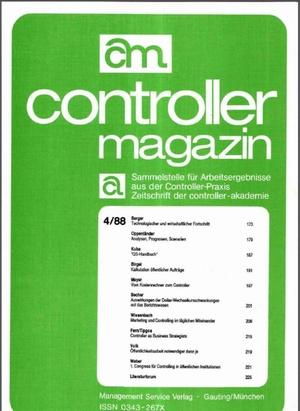 Controller Magazin Ausgabe 4/1988   Controller Magazin
