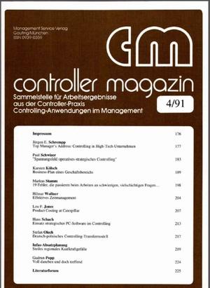 Controller Magazin Ausgabe 04/1991 | Controller Magazin