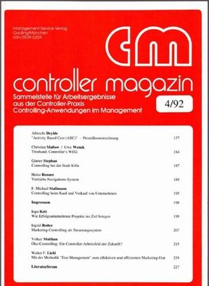 Controller Magazin Ausgabe 04/1992 | Controller Magazin