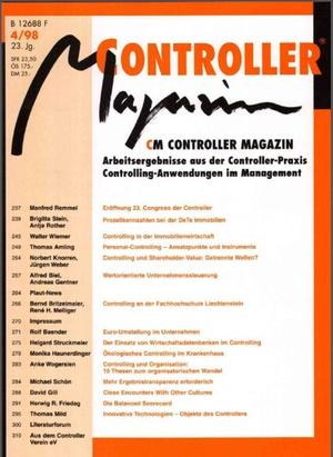 Controller Magazin Ausgabe 4/1998 | Controller Magazin