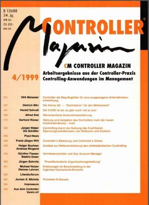 Controller Magazin Ausgabe 4/1999   Controller Magazin