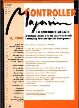 Controller Magazin Ausgabe4/2000 | Controller Magazin