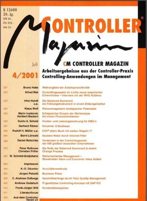 Controller Magazin Ausgabe4/2001   Controller Magazin