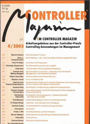Controller Magazin Ausgabe 4/2003 | Controller Magazin