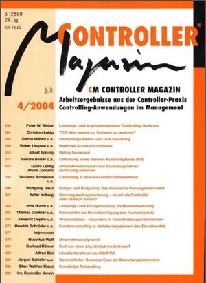 Controller Magazin Ausgabe 4/2004 | Controller Magazin