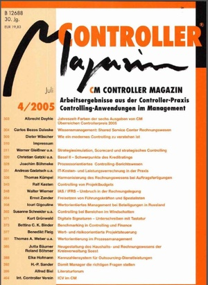 Controller Magazin Ausgabe 4/2005 | Controller Magazin