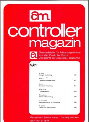 Controller Magazin Ausgabe 5/1981 | Controller Magazin