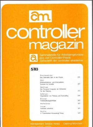 Controller Magazin Ausgabe 05/1983 | Controller Magazin