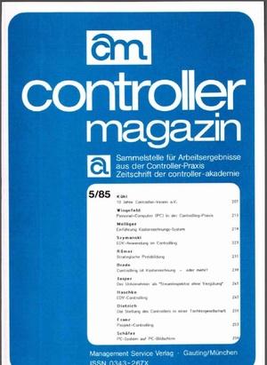 Controller Magazin Ausgabe 05/1985 | Controller Magazin
