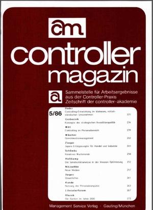 Controller Magazin Ausgabe 5/1986 | Controller Magazin