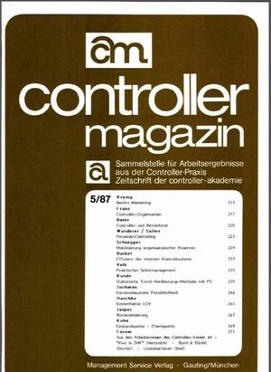 Controller Magazin Ausgabe 5/1987 | Controller Magazin