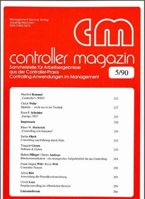 Controller Magazin Ausgabe 05/1990   Controller Magazin
