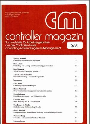 Controller Magazin Ausgabe  | Controller Magazin