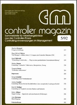Controller Magazin Ausgabe 05/1992 | Controller Magazin