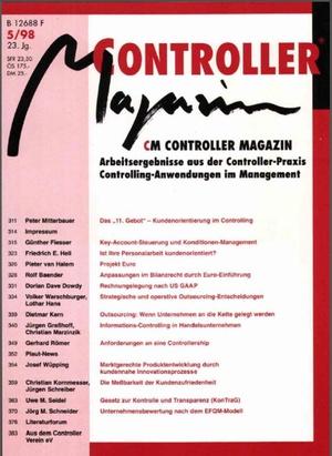 Controller Magazin Ausgabe 5/1998 | Controller Magazin