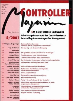 Controller Magazin Ausgabe5/2001 | Controller Magazin