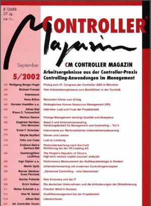 Controller Magazin Ausgabe 5/2002 | Controller Magazin