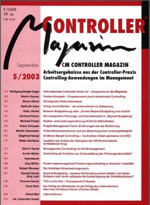 Controller Magazin Ausgabe 5/2003   Controller Magazin
