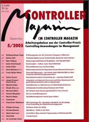 Controller Magazin Ausgabe 5/2005 | Controller Magazin
