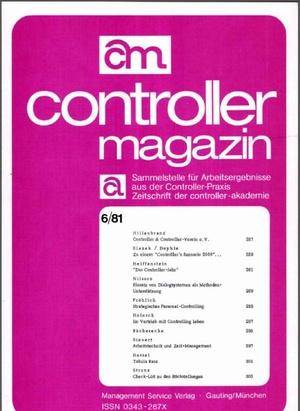 Controller Magazin Ausgabe 6/1981 | Controller Magazin