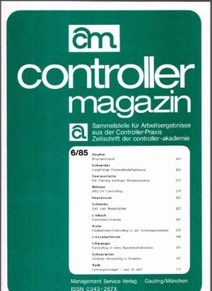 Controller Magazin Ausgabe 06/1985 | Controller Magazin