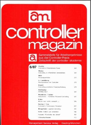 Controller Magazin Ausgabe 6/1987 | Controller Magazin