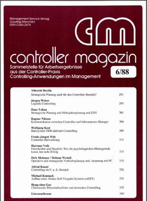 Controller Magazin Ausgabe 6/1988 | Controller Magazin