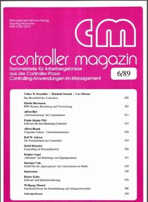 Controller Magazin Ausgabe 6/1989 | Controller Magazin