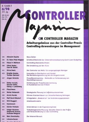 Controller Magazin Ausgabe 6/1998 | Controller Magazin