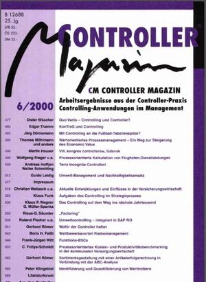 Controller Magazin Ausgabe6/2000 | Controller Magazin