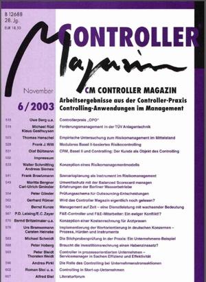Controller Magazin Ausgabe 6/2003   Controller Magazin